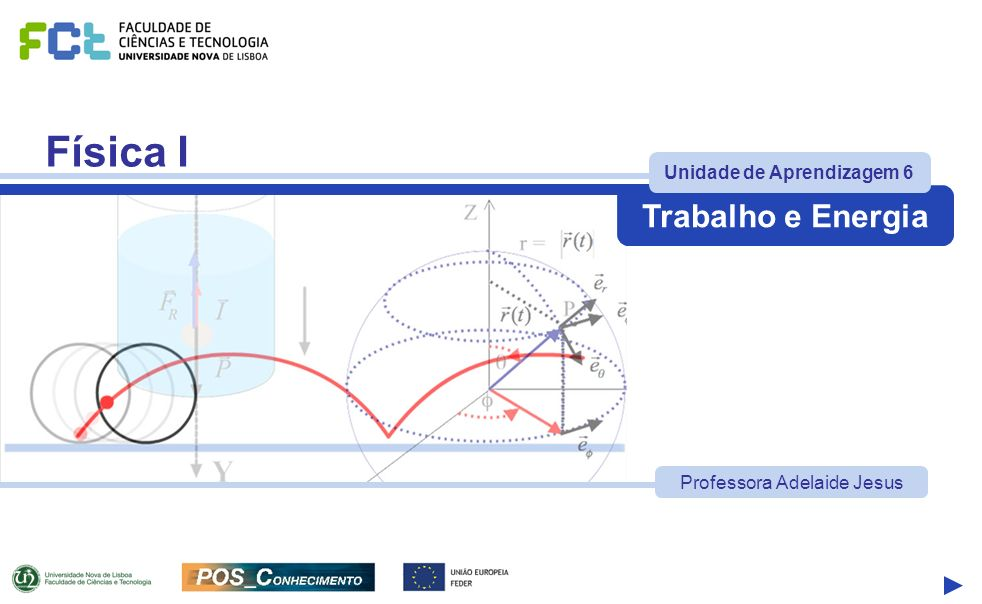 Física I Trabalho e Energia UA 6 Tópicos Prof.Adelaide Jesus - FCTUNL Pág.