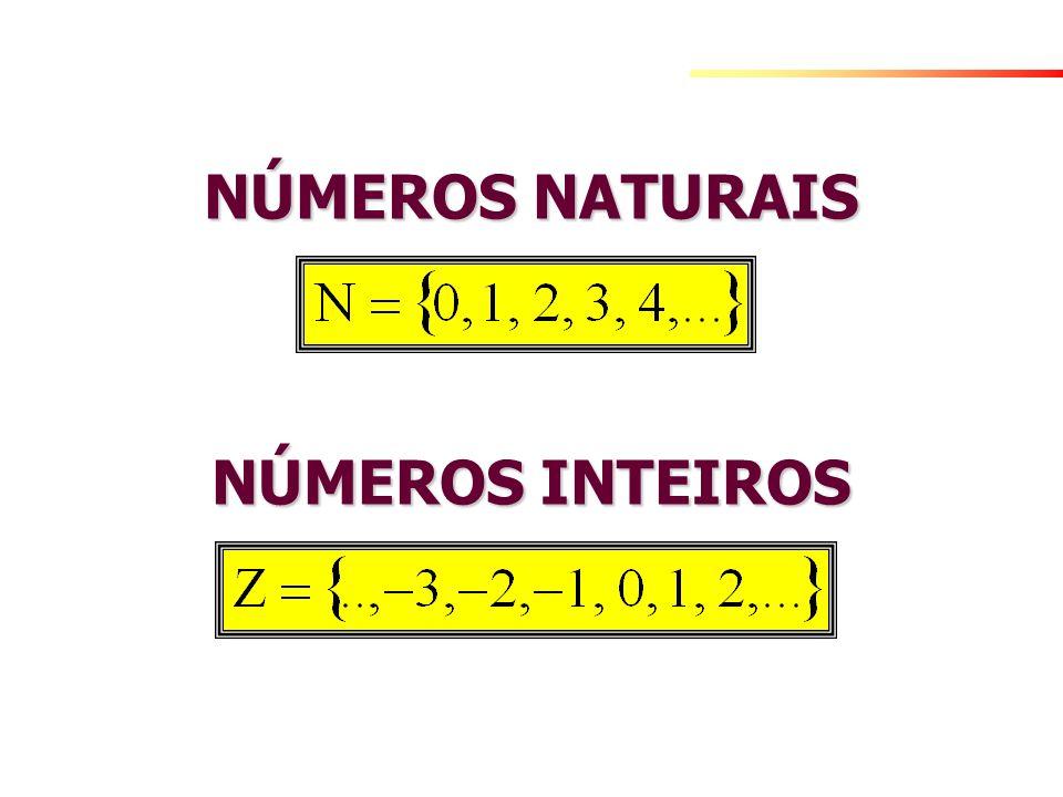 NÚMEROS RACIONAIS São frações entre números inteiros.