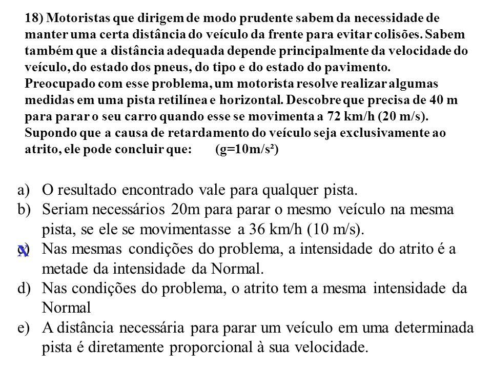 17) Um corpo se desloca em uma trajetória retilínea e horizontal.No instante t = 0 seu movimento é para a direita. Sua velocidade pode ser calculada e