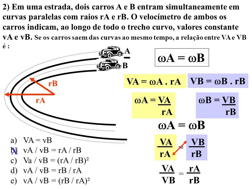 1) Um astrônomo, ao estudar a estrela dupla E1 e E2, observou que ambas executavam um movimento circular uniforme em torno do ponto P, como se estives