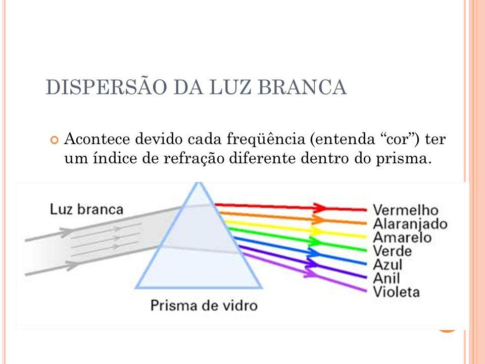 PRISMAS DE REFLEXÃO TOTAL Prisma de Amici i i = 45 L = 42 Prisma de Porro i i = 45L = 42