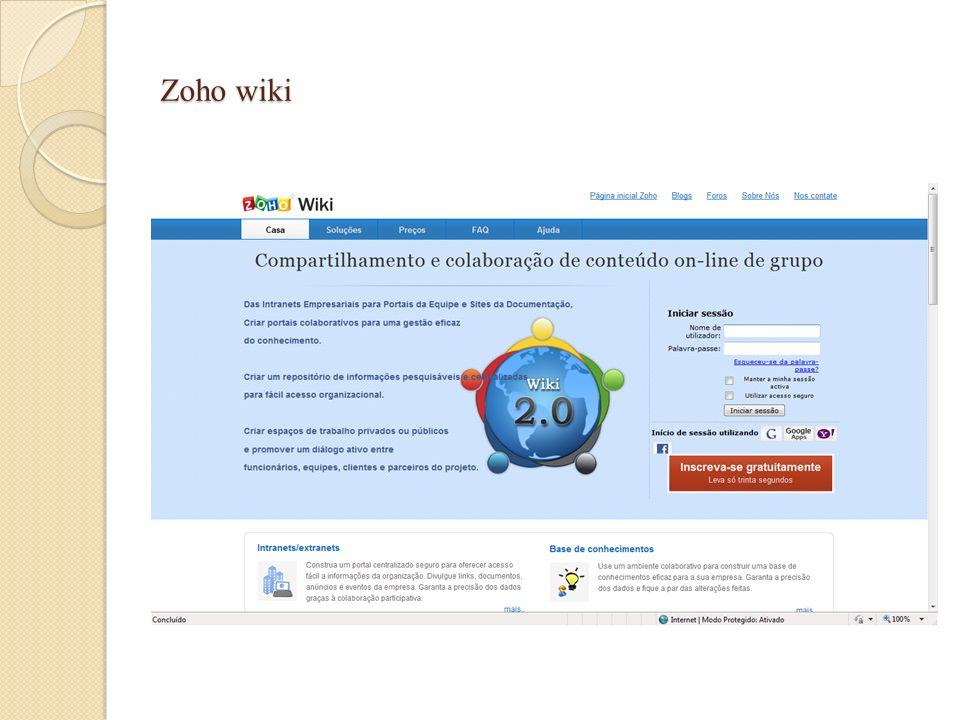 Zoho wiki