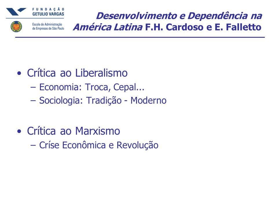 Desenvolvimento e Dependência na América Latina F.H.