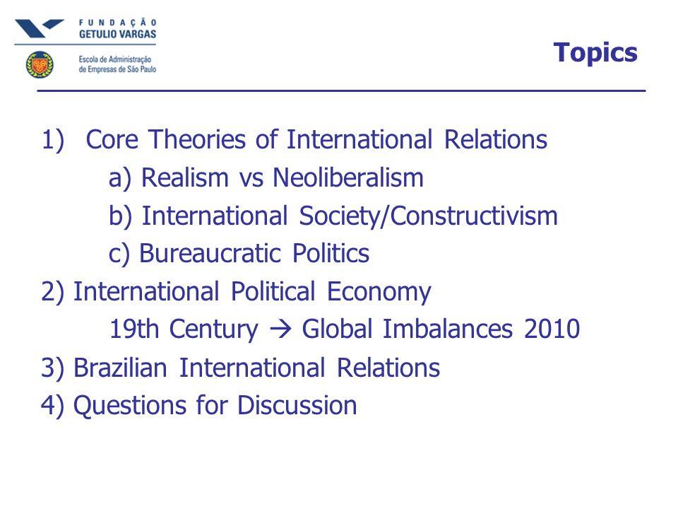 International Political Economy, 1945-2000 Bretton Woods Institutions 1945 IMF, International Monetary Fund IBRD, World Bank GATT (based on the US Reciprocal Trade Agreements Act of 1934).