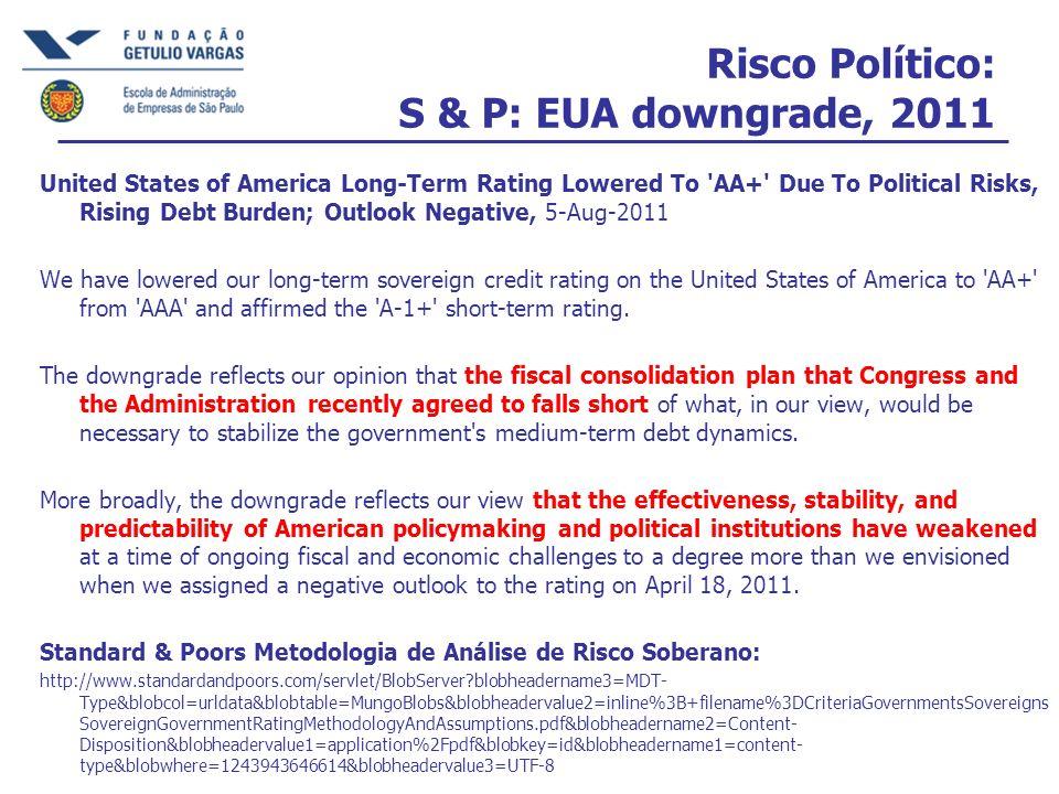 Análise de acordo com os seguintes preocupações sobre risco político...