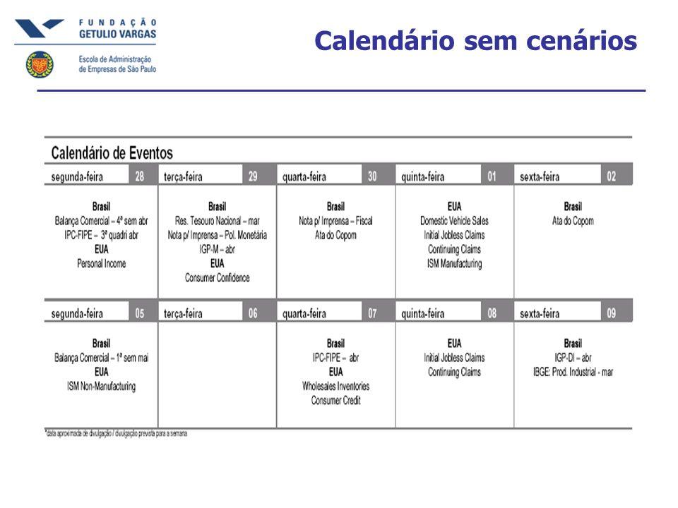 Calendário sem cenários