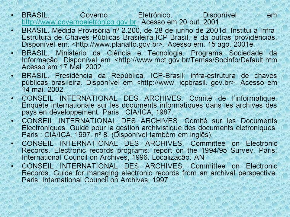 CONSEIL INTERNATIONAL DES ARCHIVES.Committee on Electronic Records.