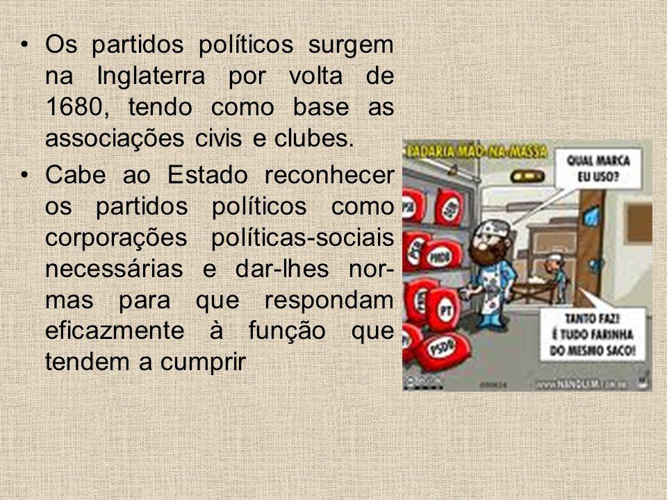 Sistemas Partidários Estado pluripartidário: os partidos políticos como entidade sociais são indispensáveis à realização do ideal democrático.