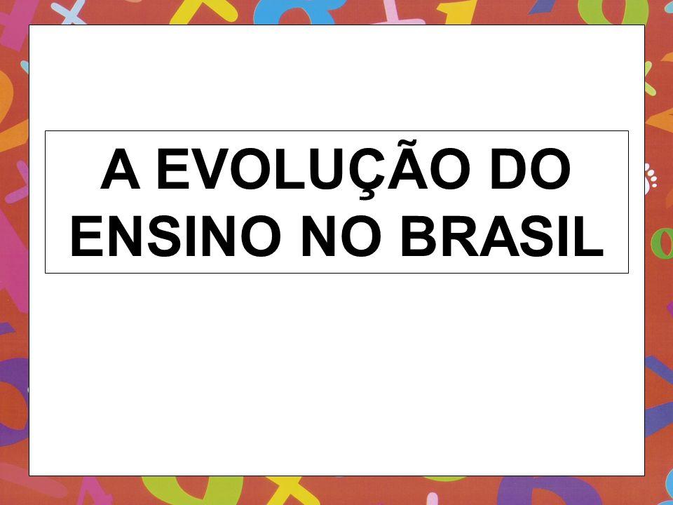 A EVOLUÇÃO DO ENSINO NO BRASIL