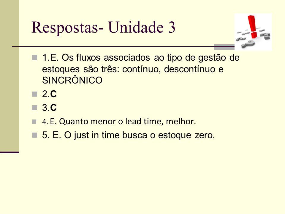 Respostas- Unidade 3 1.E.