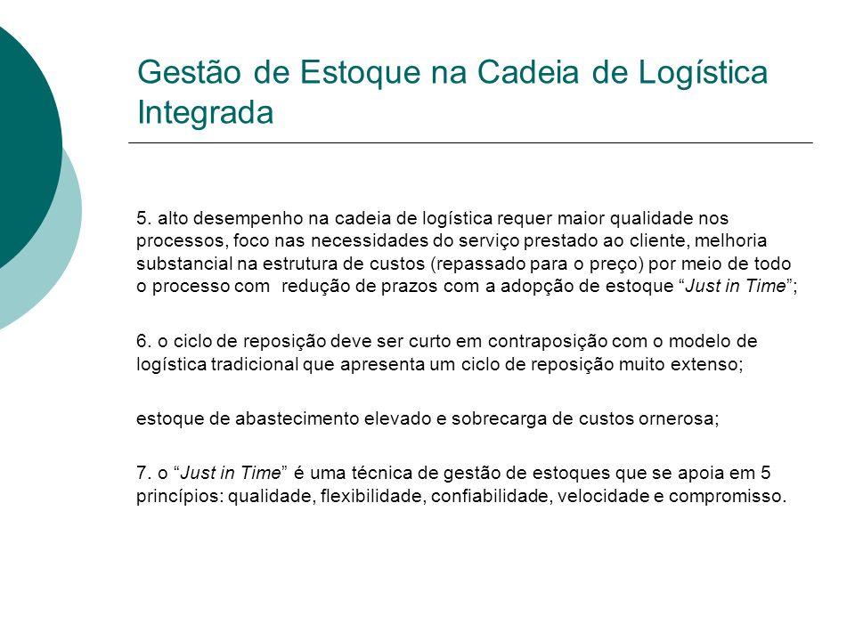 Gestão de Estoque na Cadeia de Logística Integrada 5.