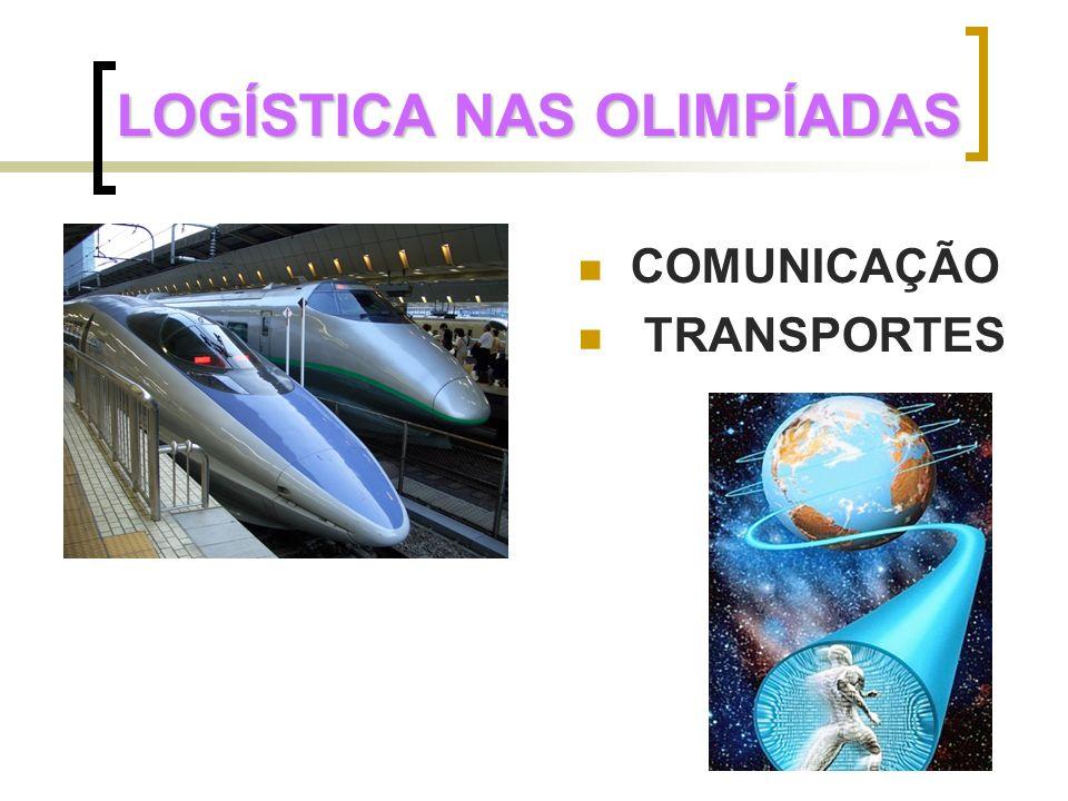 LOGÍSTICA NAS OLIMPÍADAS COMUNICAÇÃO TRANSPORTES