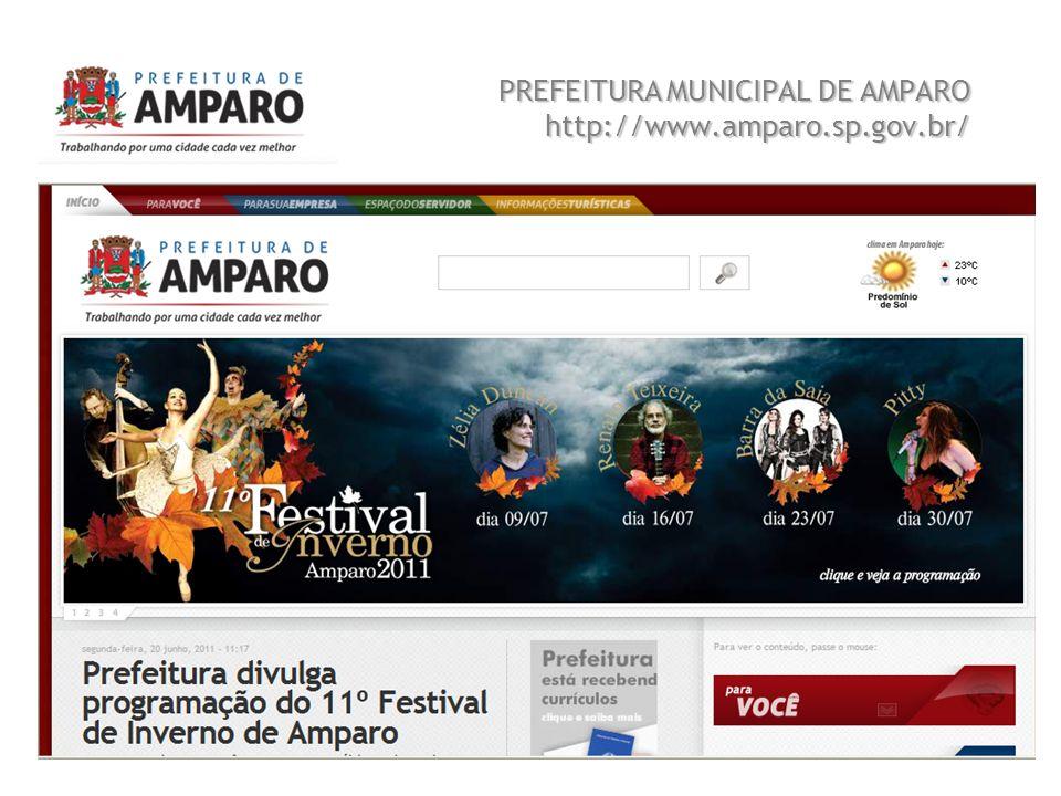 Beatriz A. Benedetti 2 PREFEITURA MUNICIPAL DE AMPARO http://www.amparo.sp.gov.br/ Sistema de Informação e Tecnologia FEQ 0411 Trabalho 01