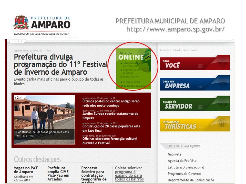 Beatriz A. Benedetti 3 PREFEITURA MUNICIPAL DE AMPARO http://www.amparo.sp.gov.br/ Sistema de Informação e Tecnologia FEQ 0411 Trabalho 01
