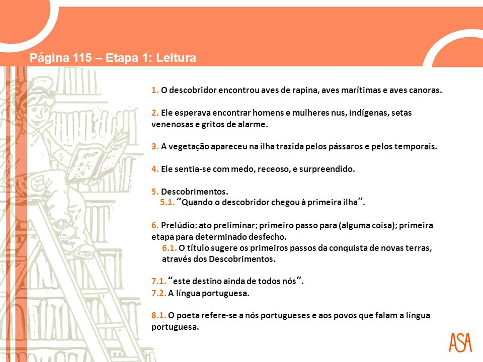 Página 116 – Etapa 2: CEL 1.Cinco estrofes. 2.
