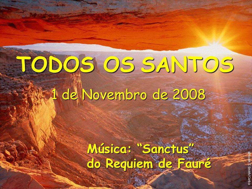 TODOS OS SANTOS 1 de Novembro de 2008 Música: Sanctus do Requiem de Fauré