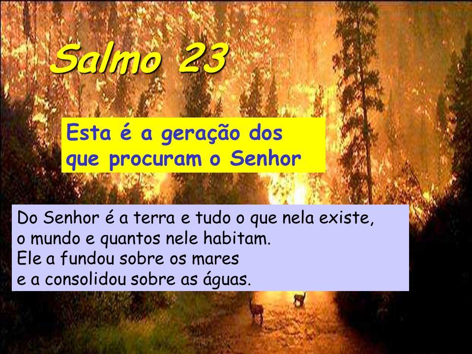 Esta é a geração dos que procuram o Senhor Do Senhor é a terra e tudo o que nela existe, o mundo e quantos nele habitam.