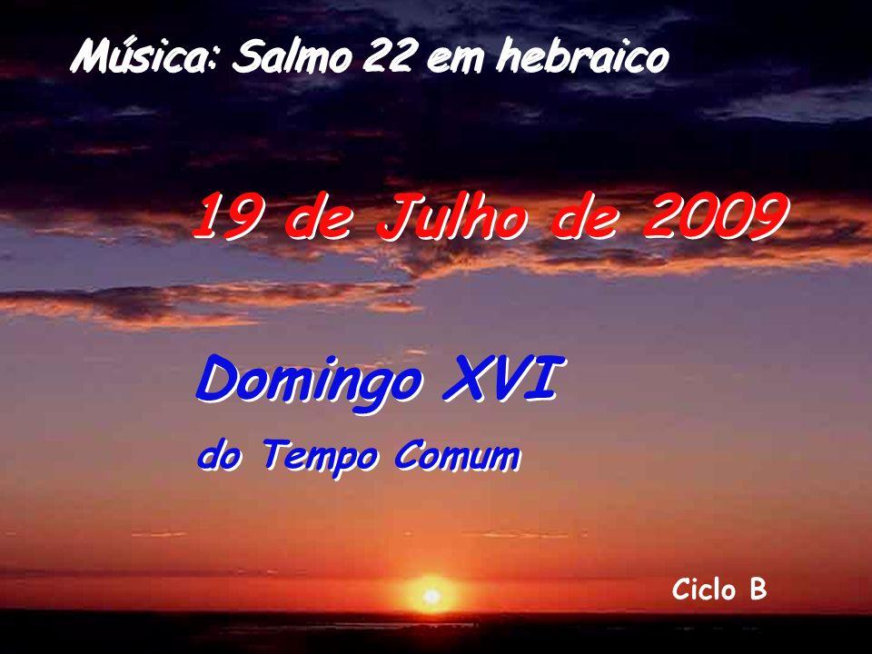 Ciclo B 19 de Julho de 2009 Domingo XVI do Tempo Comum Domingo XVI do Tempo Comum Música: Salmo 22 em hebraico
