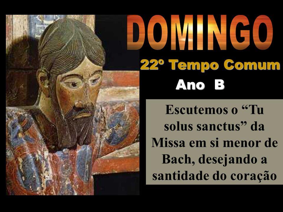 Escutemos o Tu solus sanctus da Missa em si menor de Bach, desejando a santidade do coração Ano B 22º Tempo Comum