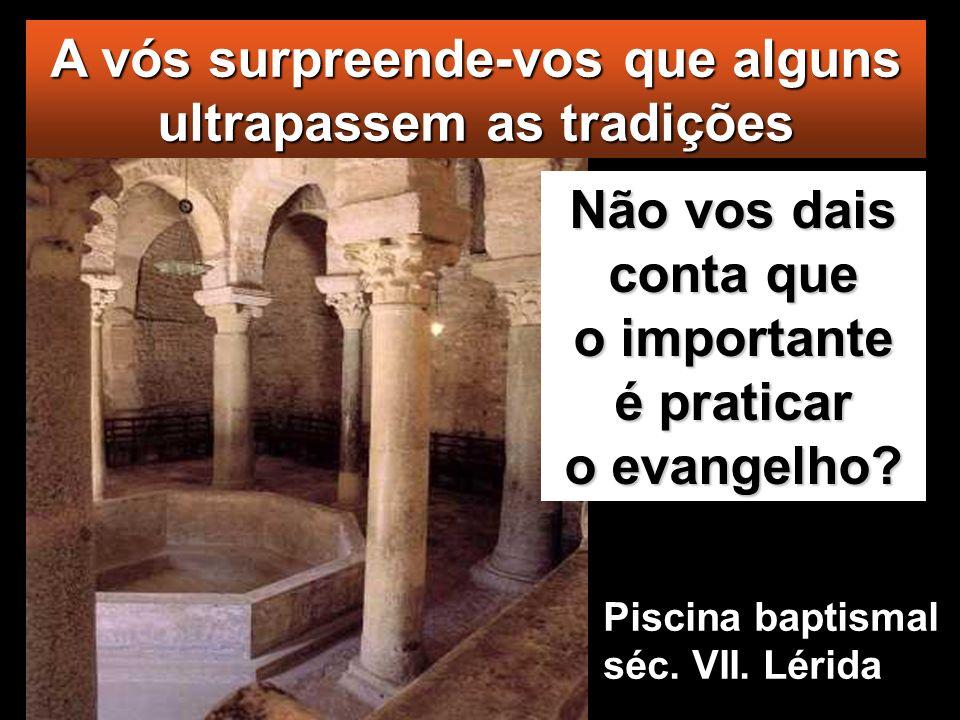 Os fariseus e os escribas perguntaram a Jesus: «Porque não seguem os teus discípulos a tradição dos antigos, e comem sem lavar as mãos?»