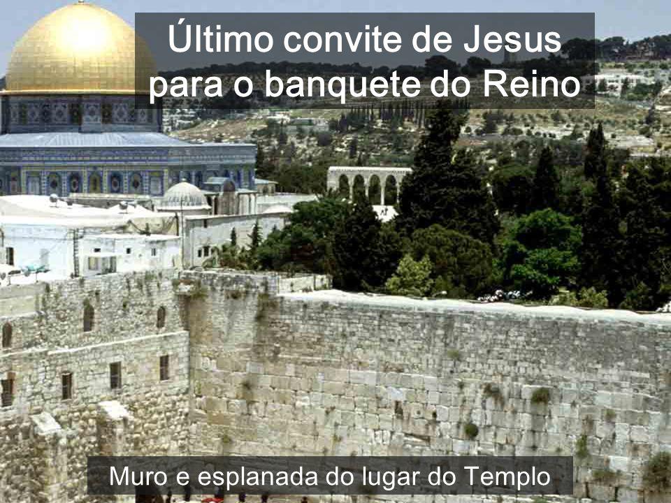 5ª Parte do evangelho de Mateus (c21-25): Teu Rei entra humildemente em Jerusalém Lugar onde estava o Templo de Jerusalém Nas três parábolas do Templo