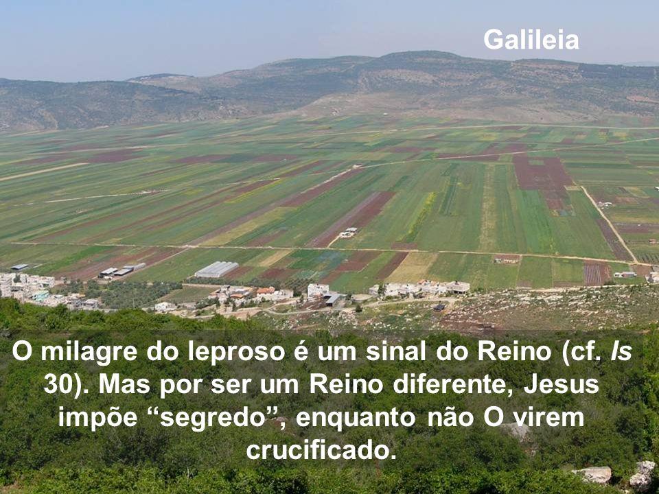 O primeiro milagre é para os que então eram os mais marginalizados Despois da jornada em Cafarnaum, agora Jesus começa a percorrer a Galileia do mundo
