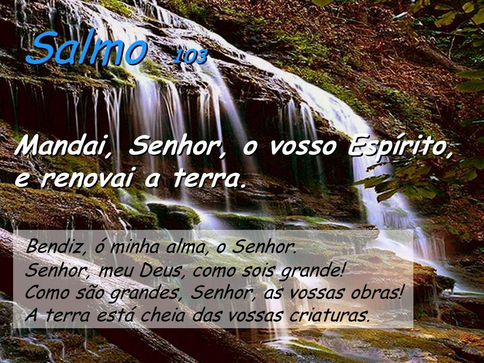 Salmo 103 Mandai, Senhor, o vosso Espírito, e renovai a terra.