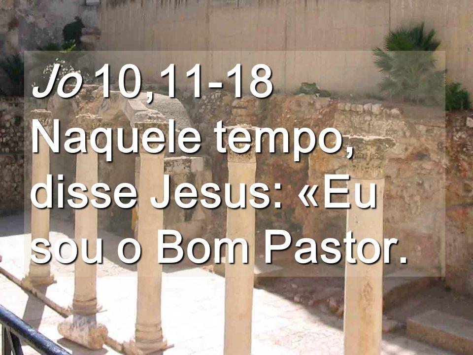 Jo 10,11-18 Naquele tempo, disse Jesus: «Eu sou o Bom Pastor.