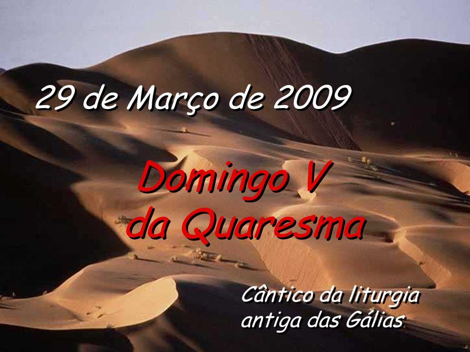 29 de Março de 2009 Domingo V da Quaresma Domingo V da Quaresma Cântico da liturgia antiga das Gálias