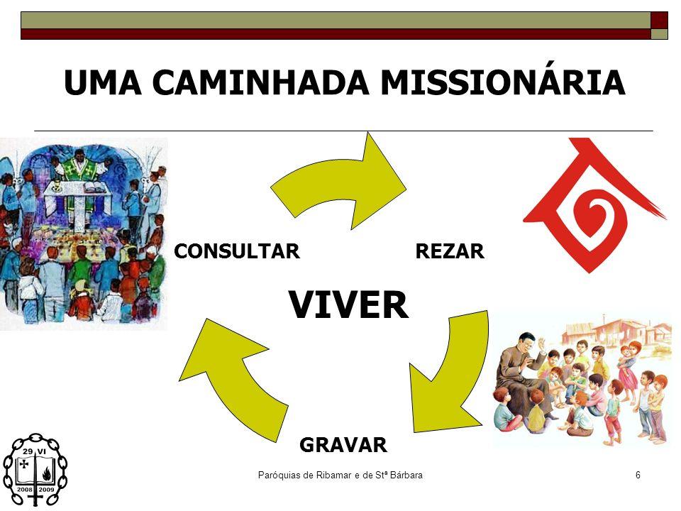 Paróquias de Ribamar e de Stª Bárbara5 UMA CAMINHADA MISSIONÁRIA BOLSA SEMINARISTA