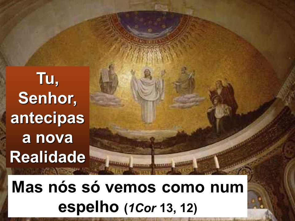 Tu, Senhor, antecipas a nova Realidade Mas nós só vemos como num espelho (1Cor 13, 12)