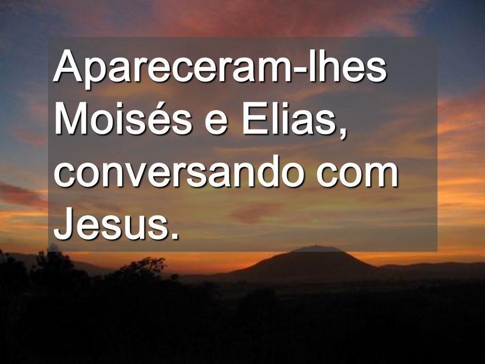 Apareceram-lhes Moisés e Elias, conversando com Jesus.