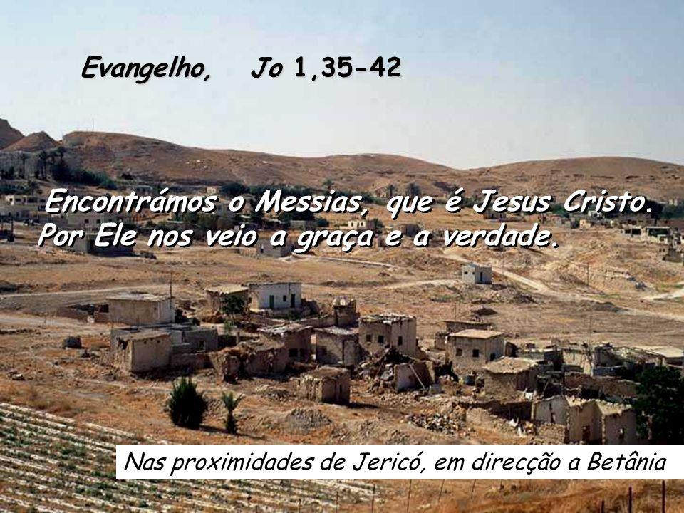 Nas proximidades de Jericó, em direcção a Betânia Evangelho, Jo 1,35-42 Encontrámos o Messias, que é Jesus Cristo.