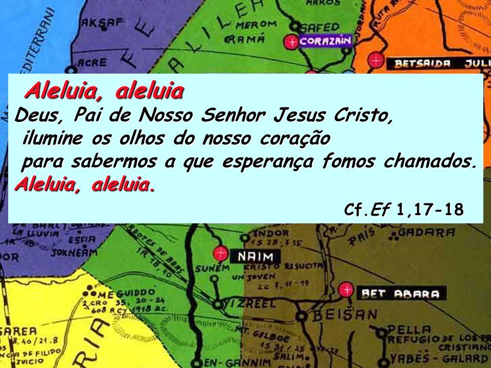 Ef 1, 3-14 Bendito seja Deus, Pai de Nosso Senhor Jesus Cristo, que do alto dos Céus nos abençoou com toda a espécie de bênçãos espirituais em Cristo.