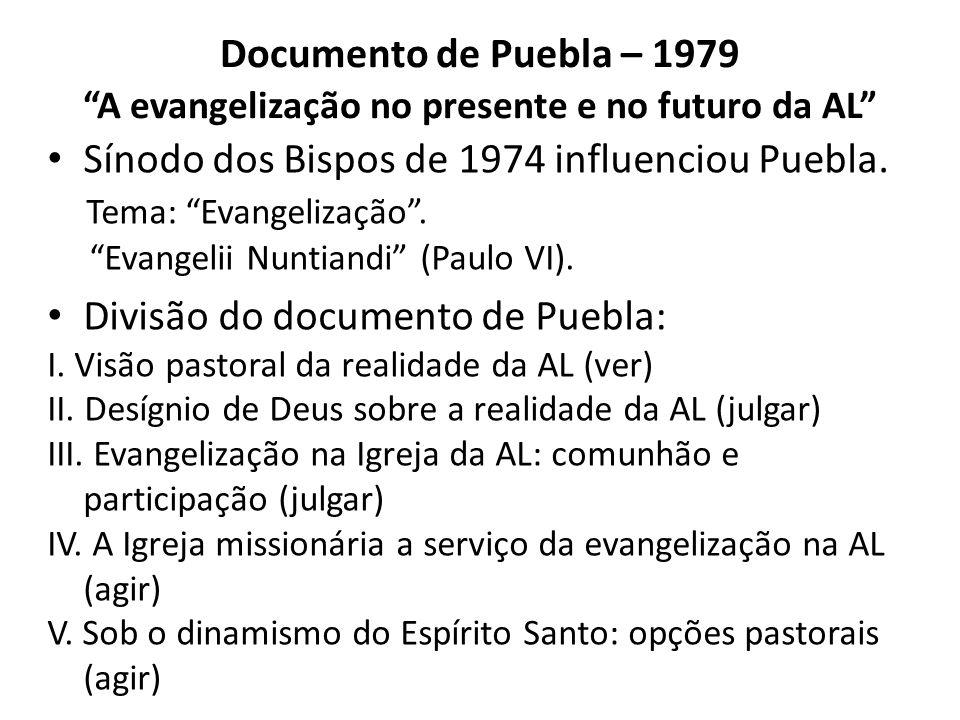 Entraram para o objetivo geral da ação pastoral da Igreja no Brasil a partir de 1979 expressões ético-teológicas inéditas e relevantes para uma teologia das relações fé e política, como opção pelos pobres, construção de uma sociedade fraterna e Reino definitivo, tendo sempre como cabeçalho o paradigma evangelizar.