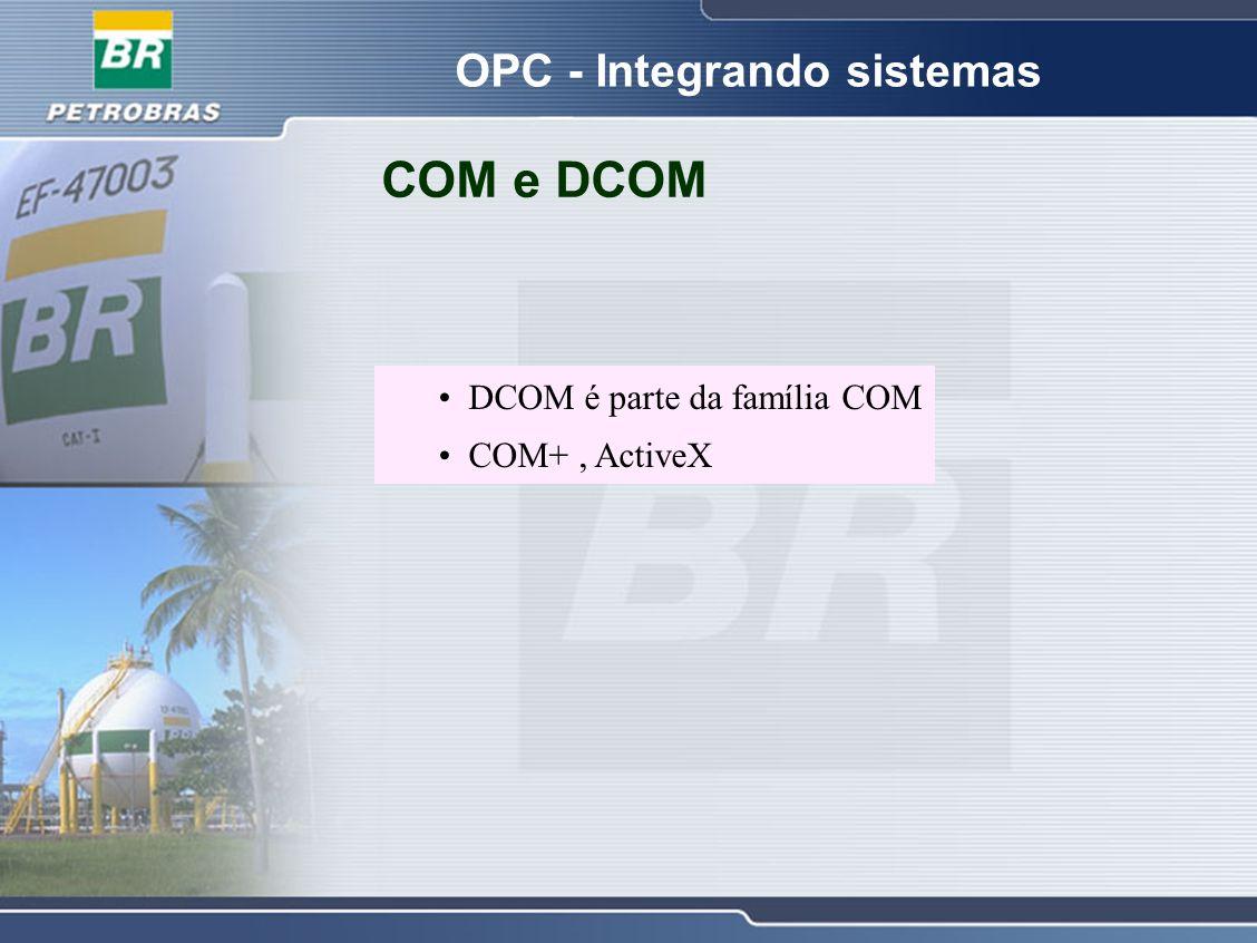 COM e DCOM DCOM é parte da família COM COM+, ActiveX