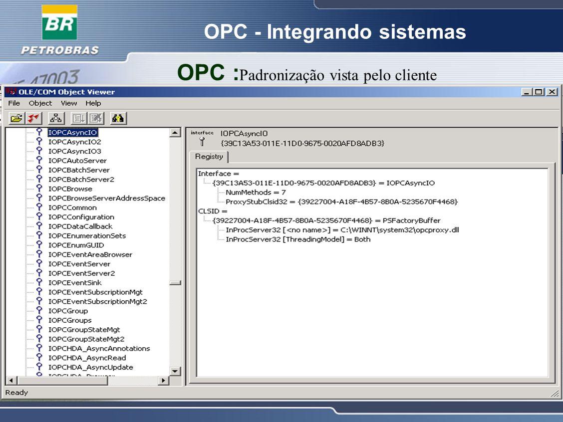 OPC - Integrando sistemas OPC : Padronização vista pelo cliente