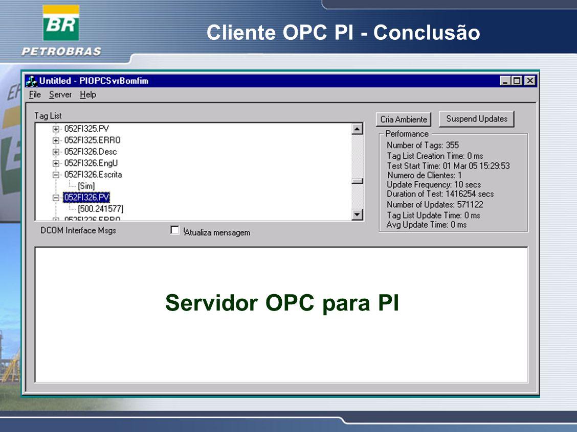 Servidor OPC para PI