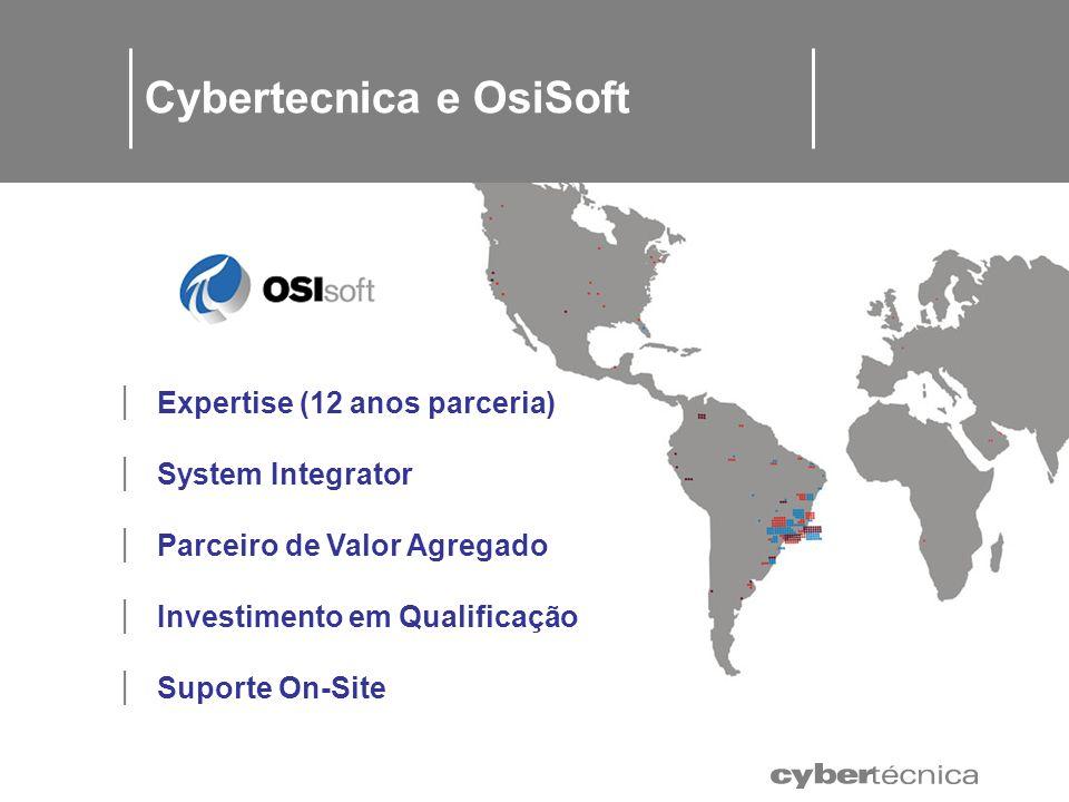 c c c Expertise (12 anos parceria) System Integrator Parceiro de Valor Agregado Investimento em Qualificação Suporte On-Site Cybertecnica e OsiSoft