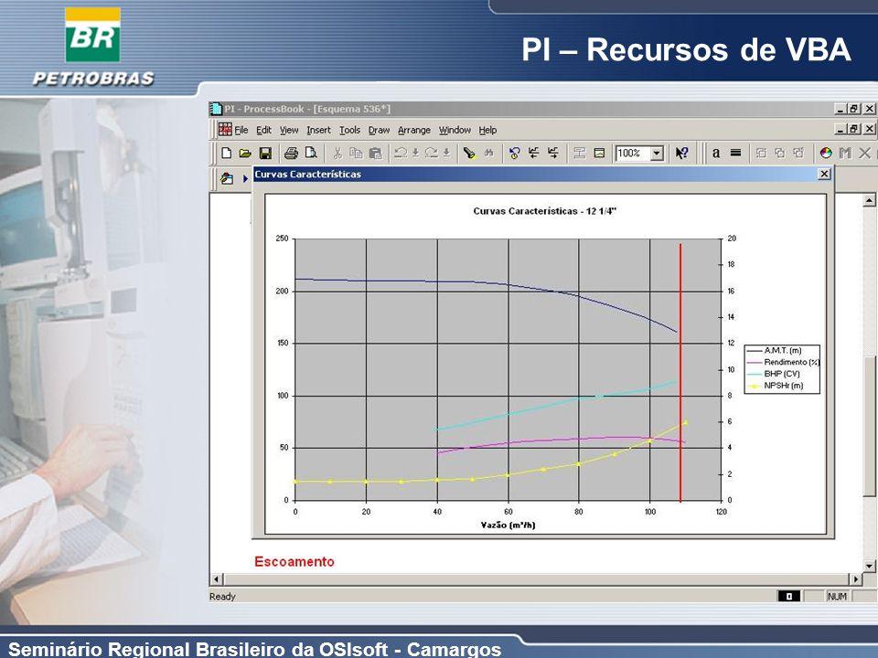 Seminário Regional Brasileiro da OSIsoft - Camargos PI – Recursos de VBA