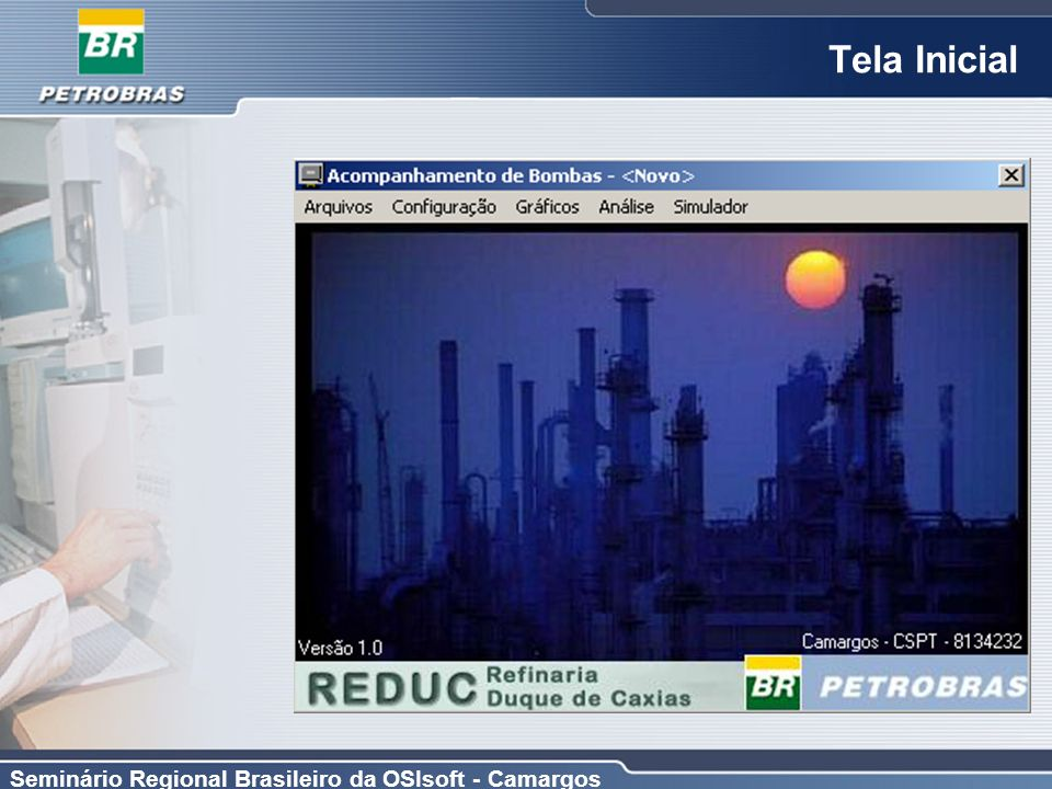 Seminário Regional Brasileiro da OSIsoft - Camargos Tela Inicial