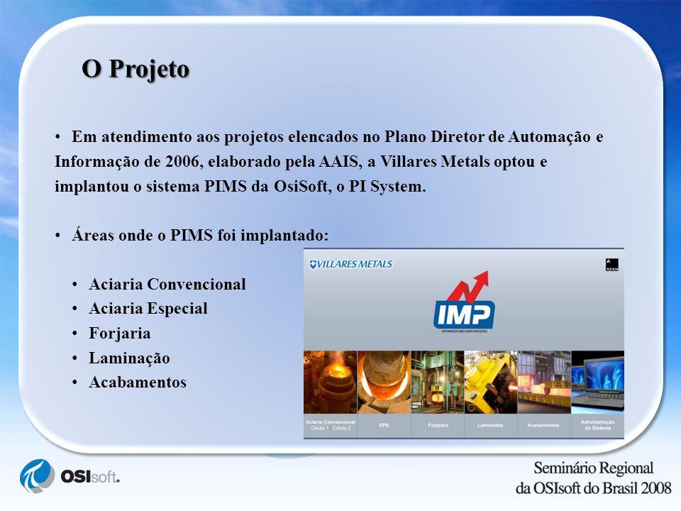 Em atendimento aos projetos elencados no Plano Diretor de Automação e Informação de 2006, elaborado pela AAIS, a Villares Metals optou e implantou o s