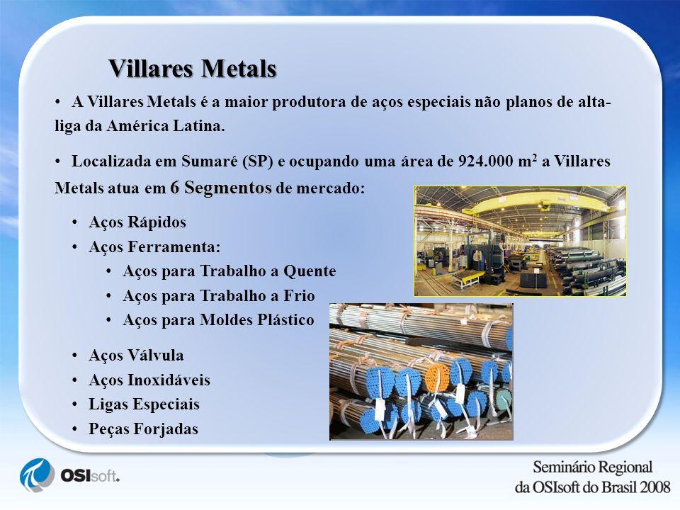 Villares Metals A Villares Metals é a maior produtora de aços especiais não planos de alta- liga da América Latina. 6 Segmentos Localizada em Sumaré (