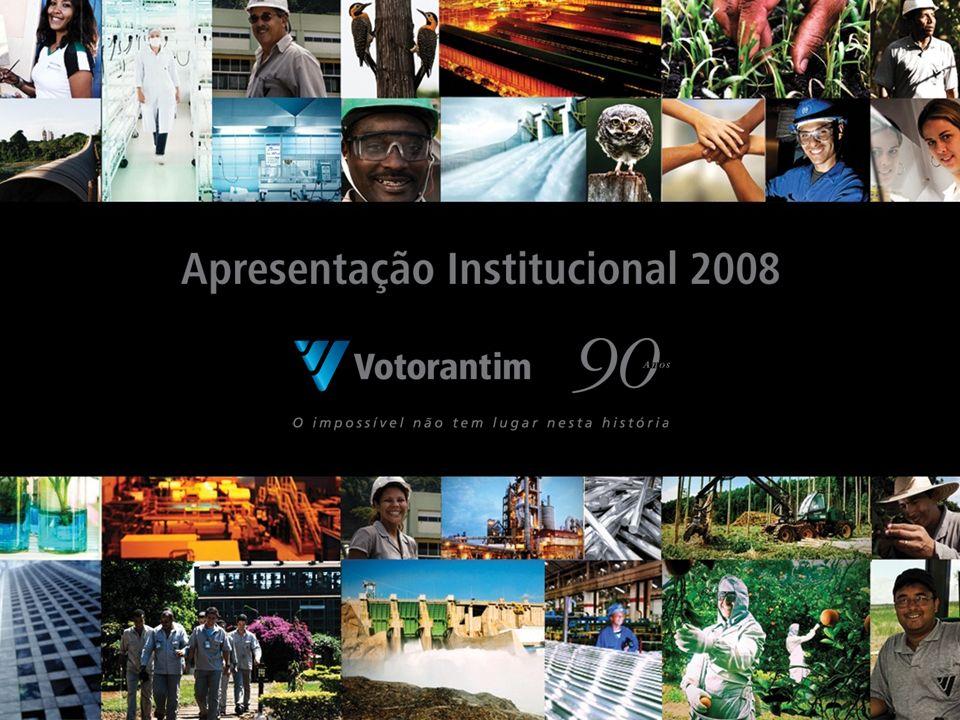 Grupo Votorantim Um dos maiores grupos empresariais da América Latina 8 Unidades de Negócio Faturamento líquido de R$ 30,4 bilhões em 2007 60 mil funcionários Ativos produtivos no Brasil, Canadá, Estados Unidos, Colômbia, Peru, Bolívia e China 2