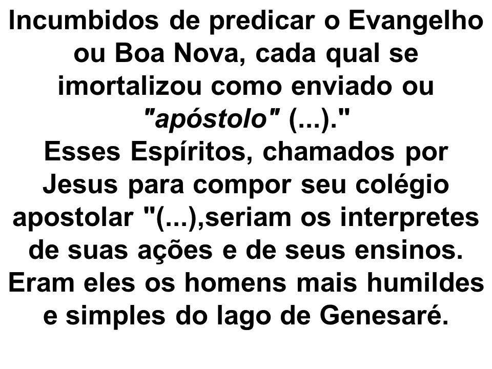 lncumbidos de predicar o Evangelho ou Boa Nova, cada qual se imortalizou como enviado ou