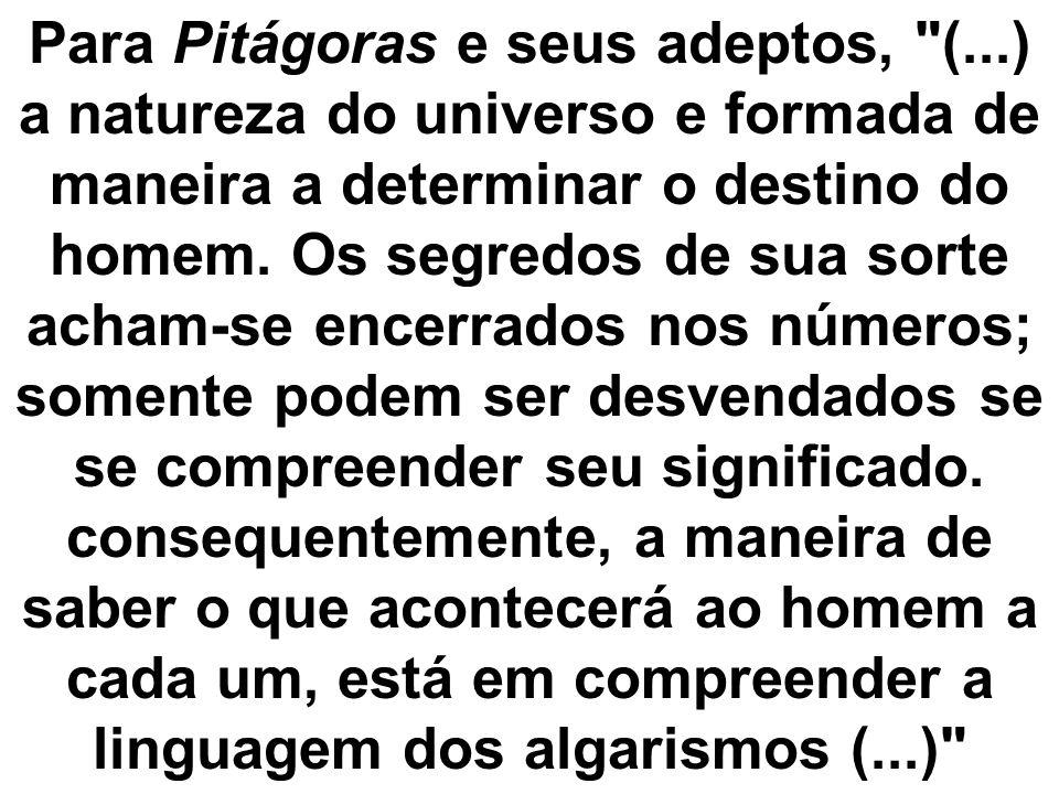 Para Pitágoras e seus adeptos,