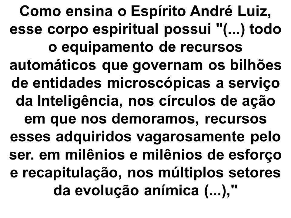 Como ensina o Espírito André Luiz, esse corpo espiritual possui