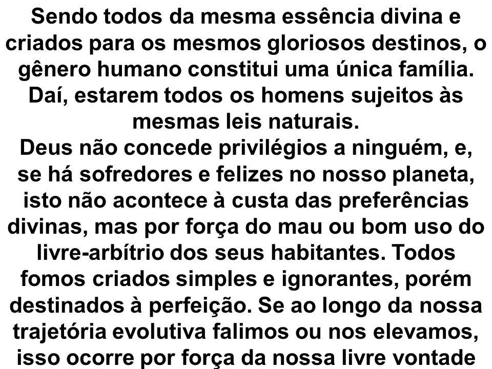 As desigualdades sociais existentes são produto de opções voluntárias dos homens e nunca devido às preferências de Deus.