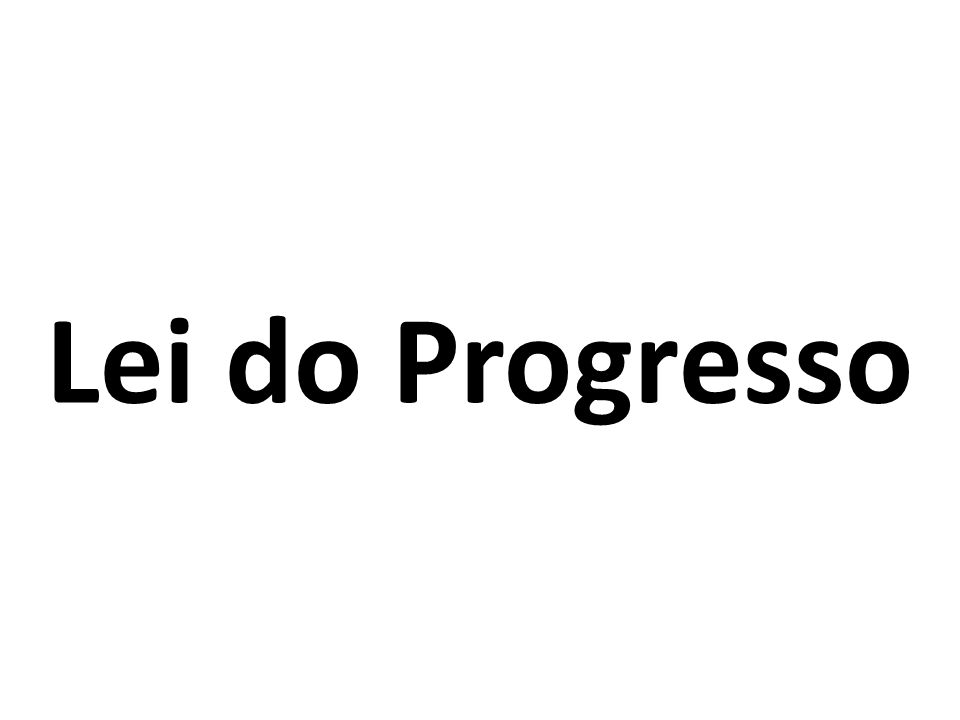 Lei do Progresso