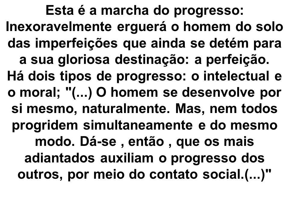 O progresso moral nem sempre acompanha o progresso intelectual.